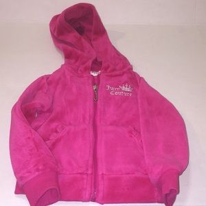 Girls hot pink preworn Juicy Couture warm up